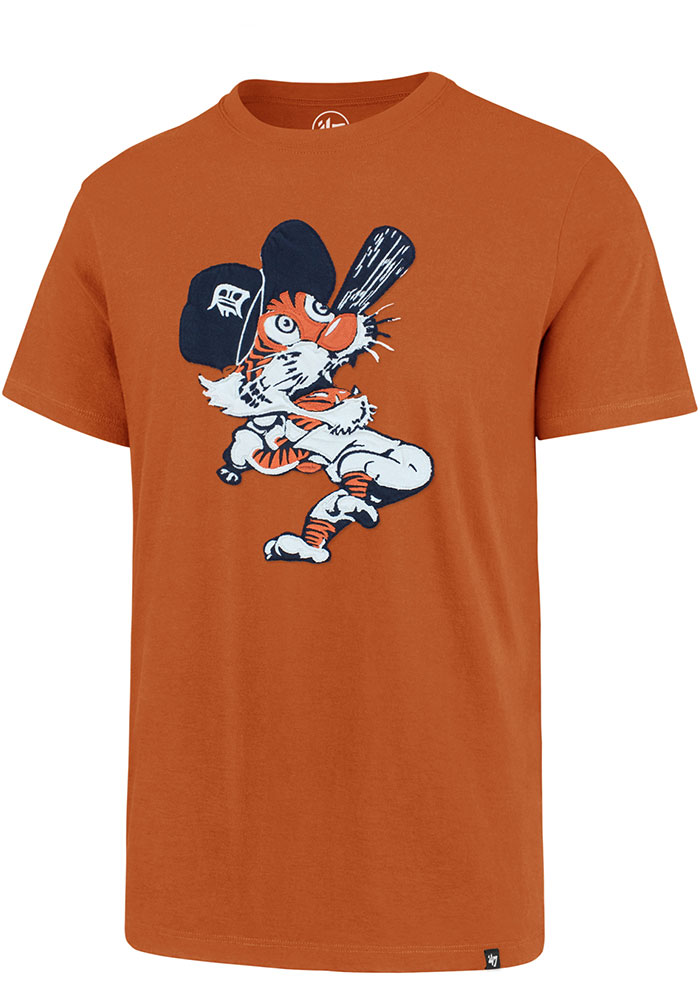 '47 Detroit Tigers Mens Orange Fieldhouse SS Short Sleeve Fashion T Shirt - Image 1