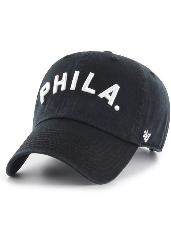official photos b9c10 bcd25 ... coupon for 47 philadelphia phillies black cooperstown script clean up  adjustable hat 73991 c7515 ...