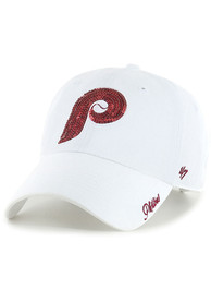 47 Philadelphia Phillies Womens White Retro Sparkle Clean Up Adjustable Hat