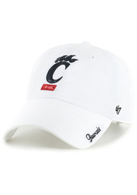 47 Cincinnati Bearcats Womens White Sparkle Clean Up Adjustable Hat