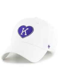47 K-State Wildcats Womens White Retro Courtney Clean Up Adjustable Hat