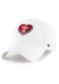 47 Temple Owls Womens White Courtney Clean Up Adjustable Hat