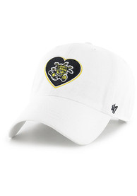 47 Wichita State Shockers Womens White Courtney Clean Up Adjustable Hat