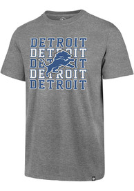 Detroit Lions 47 Repeating Club T Shirt - Grey