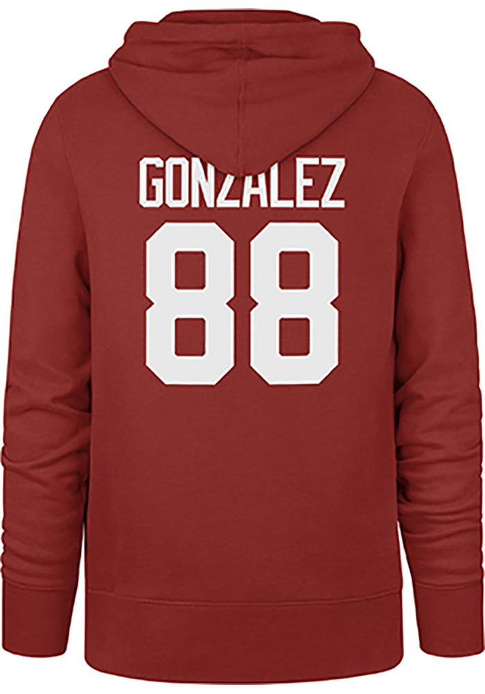 Tony Gonzalez Kansas City Chiefs Mens Red Player Player Hood - Image 1