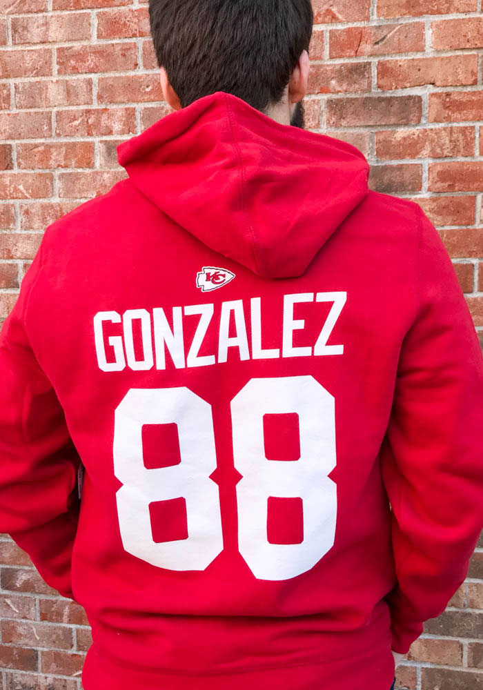 Tony Gonzalez Kansas City Chiefs Mens Red Player Player Hood - Image 3
