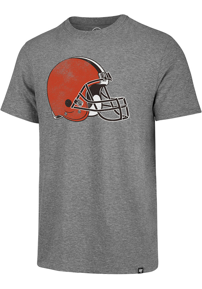 '47 Cleveland Browns Grey Imprint Match Short Sleeve Fashion T Shirt - Image 1