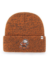 47 Cleveland Browns Orange Brain Freeze Cuff Knit Hat