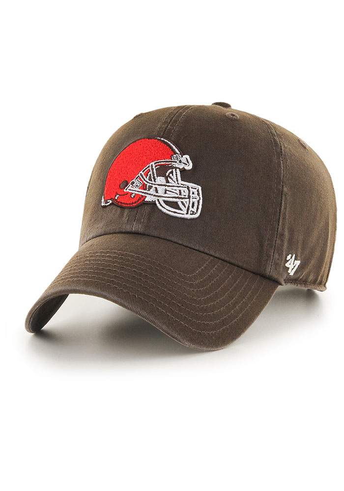 '47 Cleveland Browns Brown Clean Up Youth Adjustable Hat - Image 1