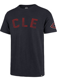 47 Cleveland Indians Navy Blue City Scrum Fashion Tee