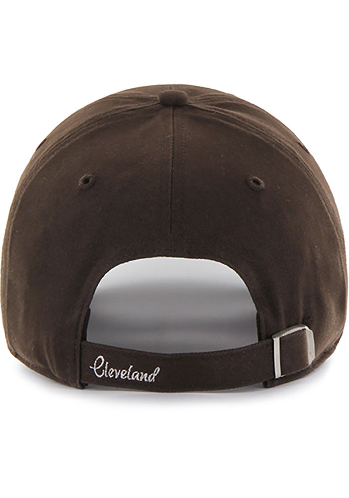 '47 Cleveland Browns Brown Sparkle Clean Up Womens Adjustable Hat - Image 2