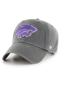 47 K-State Wildcats Clean Up Adjustable Hat - Charcoal