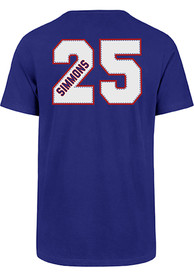 Ben Simmons Philadelphia 76ers 47 Name and Number T-Shirt - Blue
