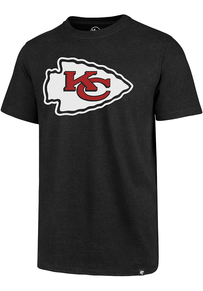 47 Kansas City Chiefs Black Logo Club Short Sleeve T Shirt - Image 1