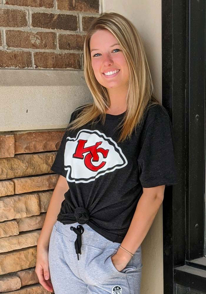 47 Kansas City Chiefs Black Logo Club Short Sleeve T Shirt - Image 2