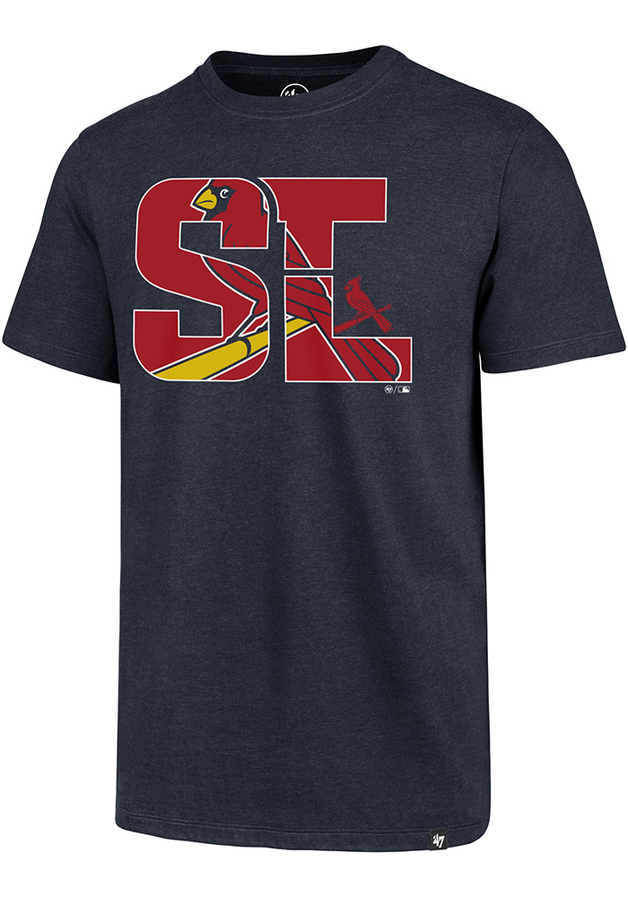 '47 St Louis Cardinals Navy Blue Regional Club Short Sleeve Fashion T Shirt - Image 1