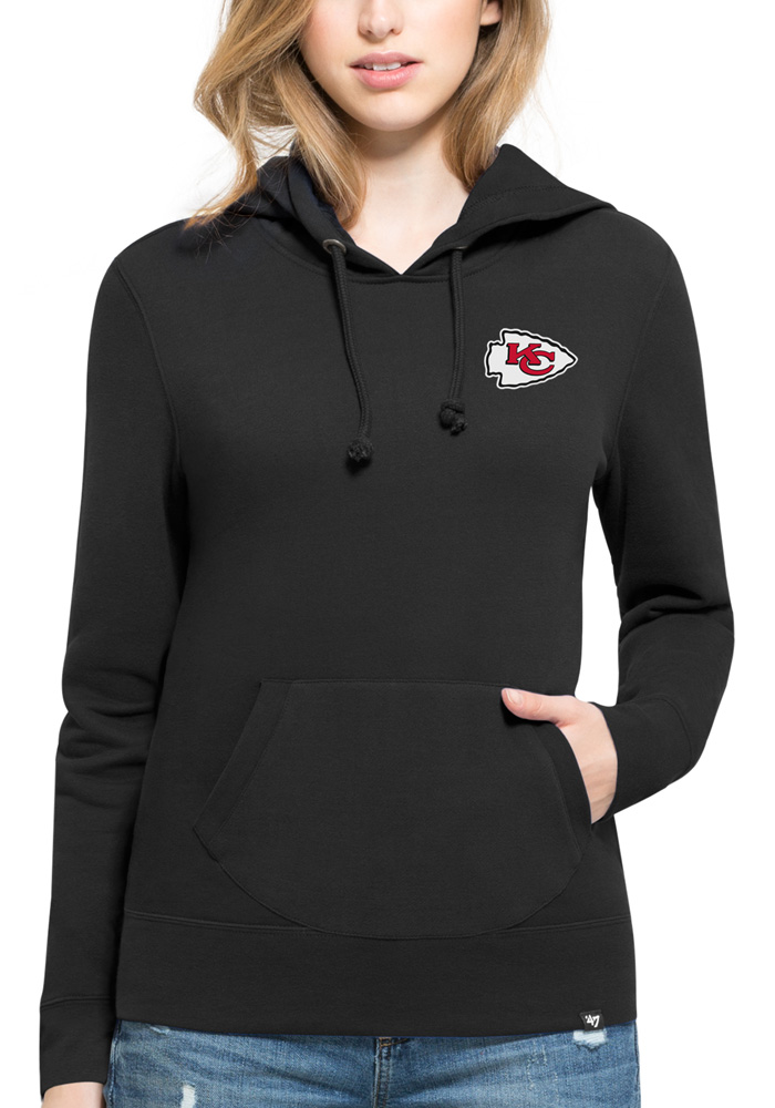 47 Kansas City Chiefs Womens Black Rundown Headline Hooded Sweatshirt - Image 1