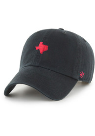 Texas 47 Base Runner Clean Up Adjustable Hat - Black