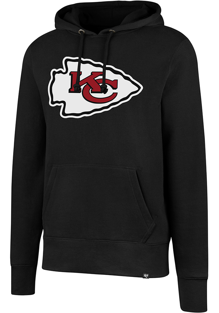 e34b040fa  47 Kansas City Chiefs Black Logo Headline Hoodie