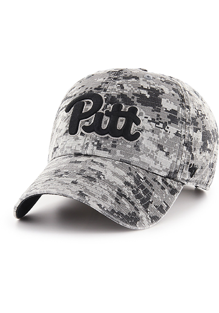 47 Pitt Panthers Digital Camo OHT Nilan Clean Up Adjustable Hat - Black - Image 1