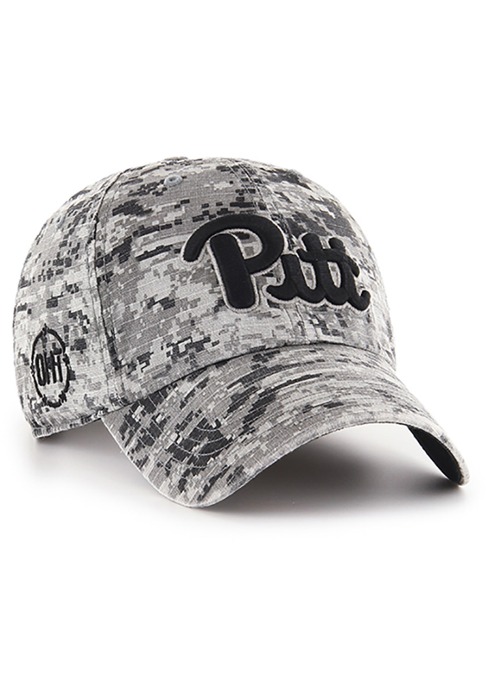 47 Pitt Panthers Digital Camo OHT Nilan Clean Up Adjustable Hat - Black - Image 2