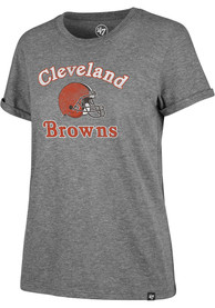 Cleveland Browns Womens 47 Switch Up Match Hero T-Shirt - Grey