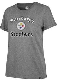 Pittsburgh Steelers Womens 47 Switch Up Match Hero T-Shirt - Grey