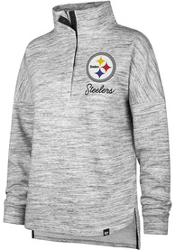 47 Pittsburgh Steelers Womens Haze Black 1/4 Zip Pullover