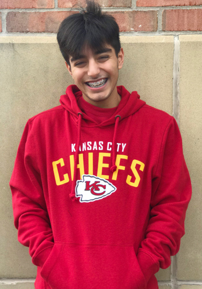 47 Kansas City Chiefs Mens Red Outrush Long Sleeve Hoodie - Image 2