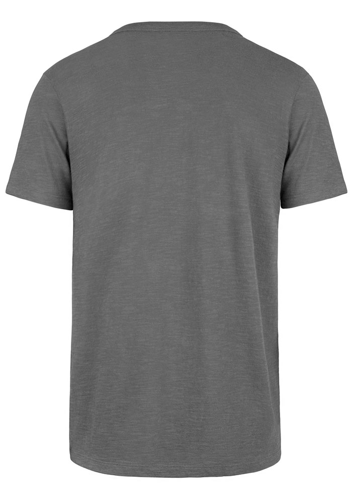 '47 Cleveland Browns Grey Classic Track Short Sleeve Fashion T Shirt - Image 2