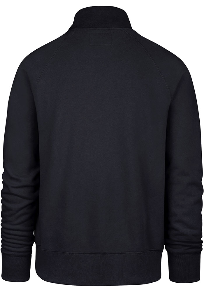 47 Chicago Bears Mens Navy Blue Headline Long Sleeve 1/4 Zip Fashion Pullover - Image 2