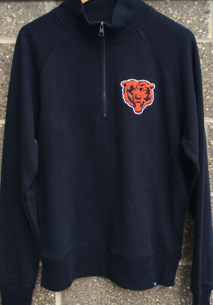 47 Chicago Bears Mens Navy Blue Headline Long Sleeve 1/4 Zip Fashion Pullover - Image 3