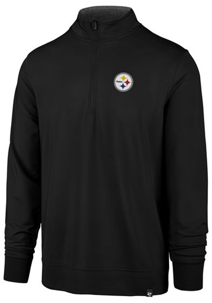 47 Pittsburgh Steelers Black Relay 1/4 Zip Pullover
