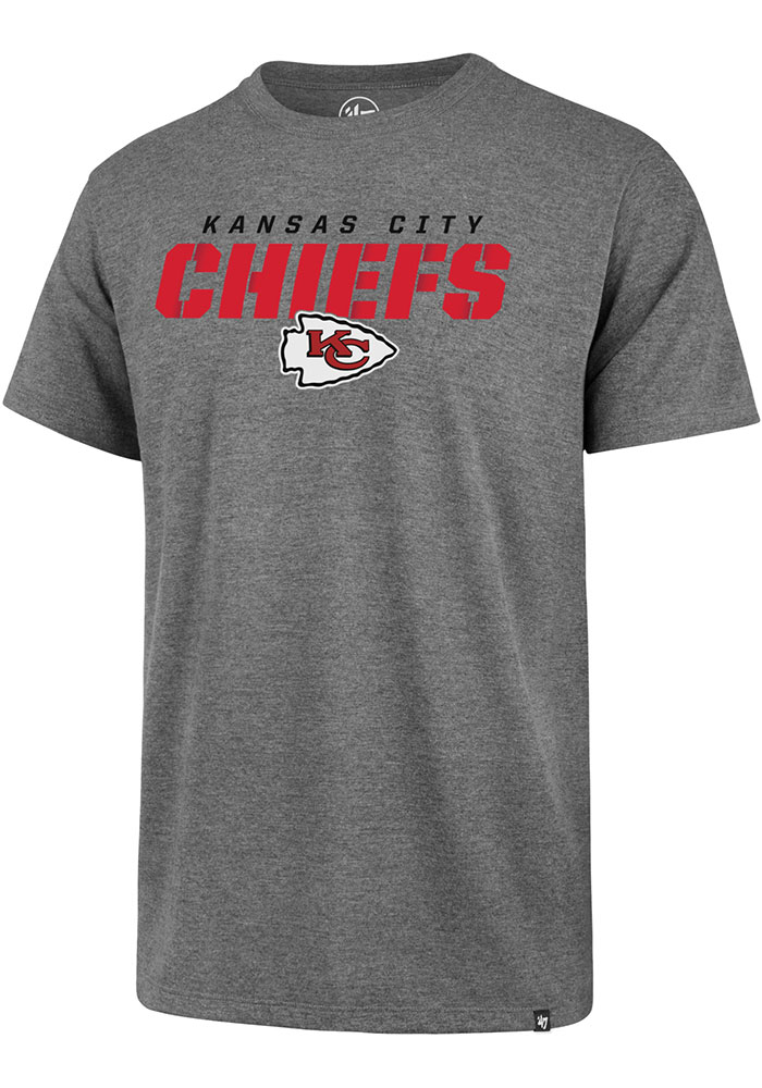 47 Kansas City Chiefs Grey Traction Short Sleeve T Shirt - Image 1
