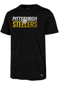classic fit ca996 d2df4 '47 Pittsburgh Steelers Black Turbo Tee