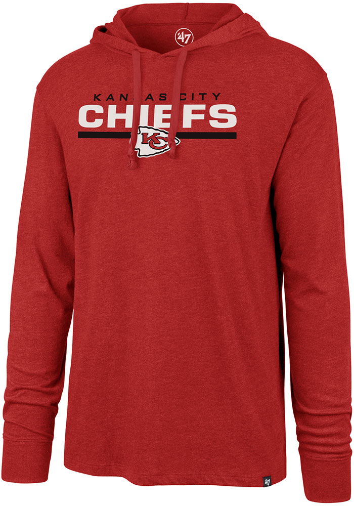 47 Kansas City Chiefs Mens Red End Line Long Sleeve Hoodie - Image 1