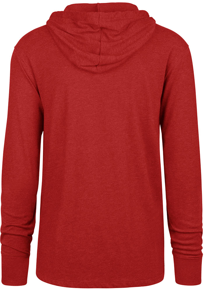 47 Kansas City Chiefs Mens Red End Line Long Sleeve Hoodie - Image 2