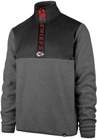 47 Kansas City Chiefs Grey Alpine 1/4 Zip Pullover