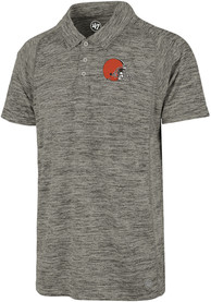 47 Cleveland Browns Grey Impact Short Sleeve Polo Shirt