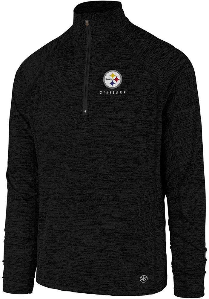 47 Pittsburgh Steelers Black Impact 1/4 Zip Pullover