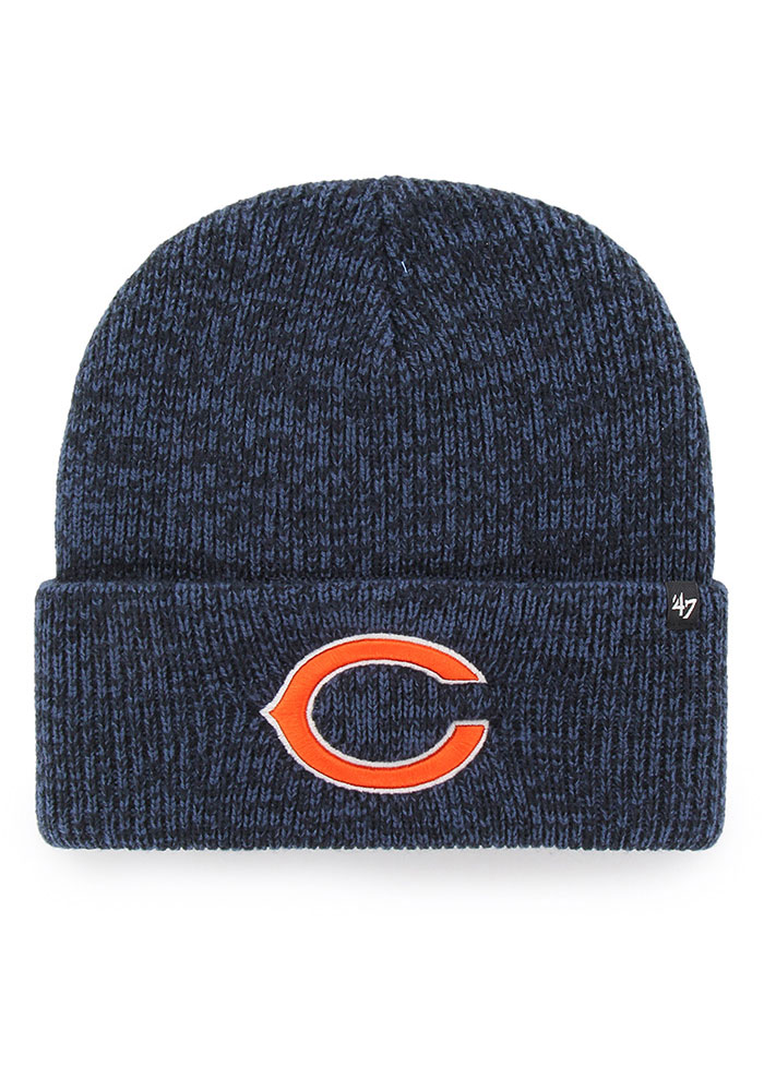 '47 Chicago Bears Navy Blue Brain Freeze Mens Knit Hat - Image 1