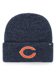 47 Chicago Bears Navy Blue Brain Freeze Knit Hat