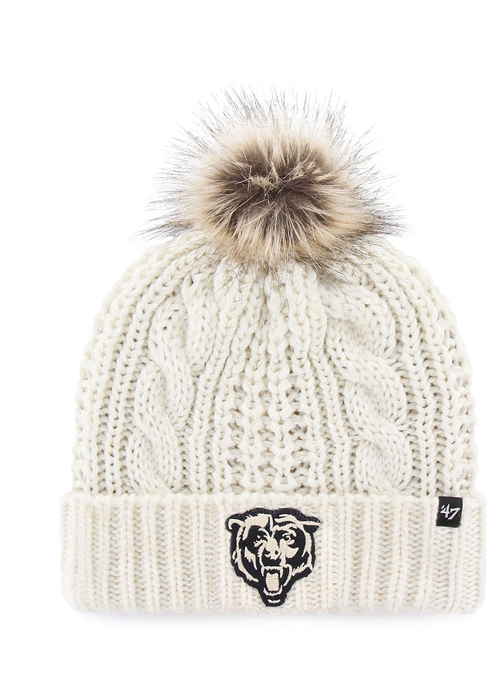 '47 Chicago Bears White Meeko Cuff Womens Knit Hat - Image 1