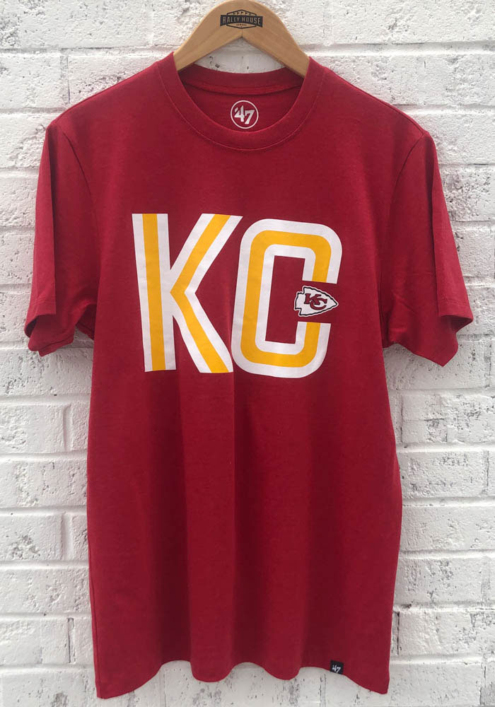 '47 Kansas City Chiefs Red Club Short Sleeve T Shirt - Image 2