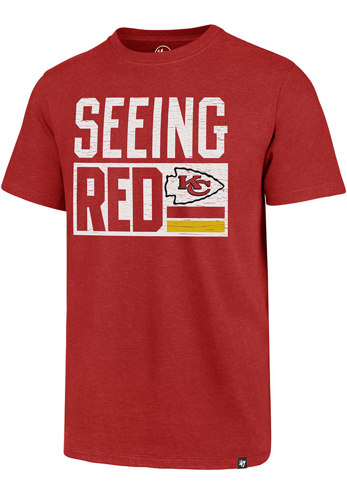 '47 Kansas City Chiefs Red Club Short Sleeve T Shirt - Image 1