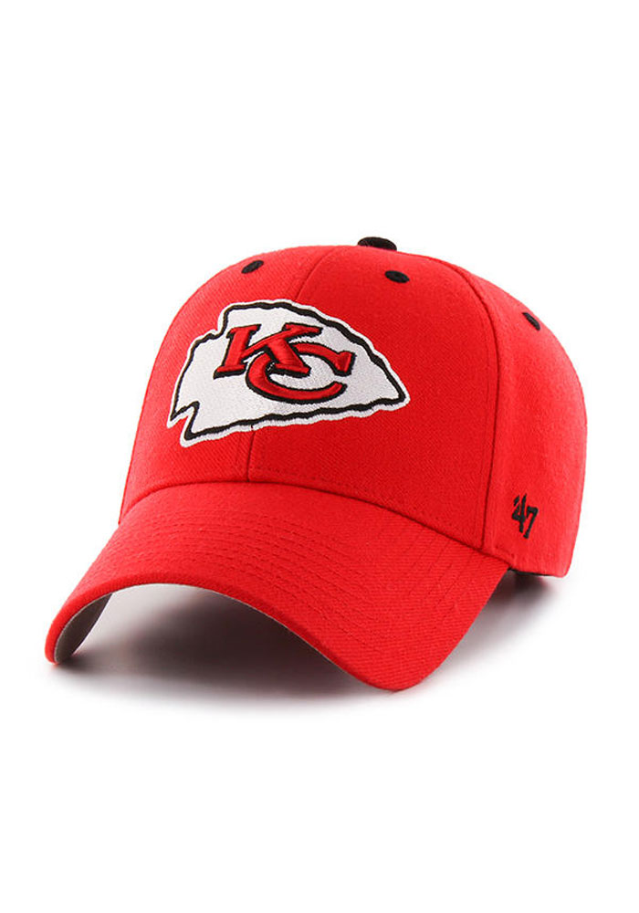 '47 Kansas City Chiefs Mens Red Audible 47 MVP Adjustable Hat - Image 1
