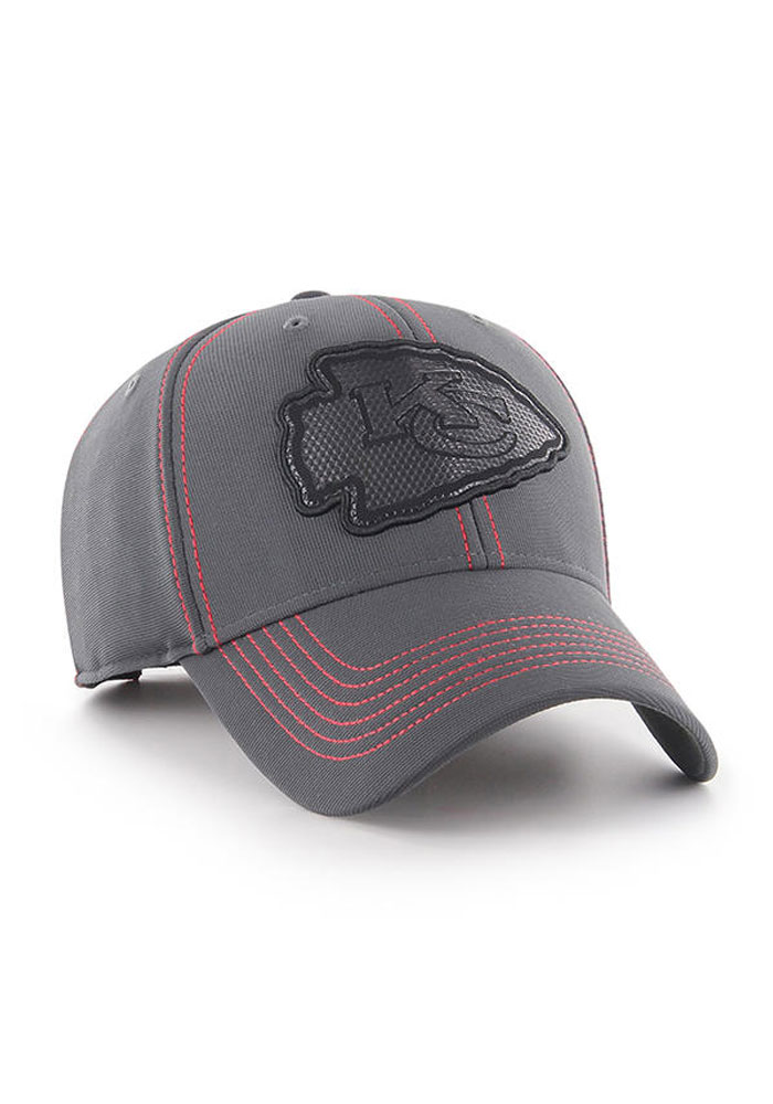 '47 Kansas City Chiefs Mens Grey Battalion 47 MVP Adjustable Hat - Image 1