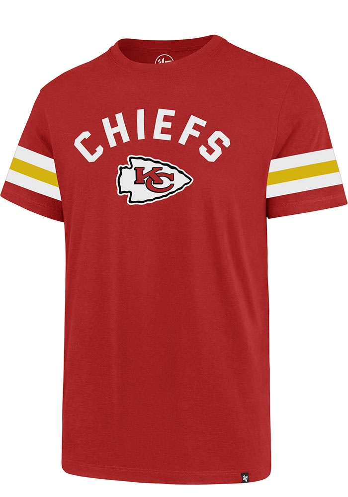 47 Kansas City Chiefs Red Stripe Sleeve Legion Short Sleeve T Shirt - Image 1