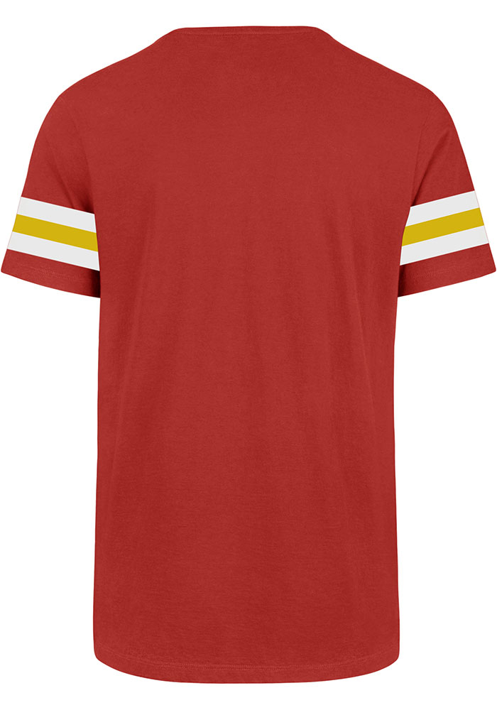 47 Kansas City Chiefs Red Stripe Sleeve Legion Short Sleeve T Shirt - Image 2