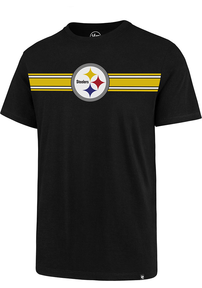 Pittsburgh Steelers 47 Stripe Chest Legion T Shirt - Black